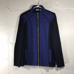 Zenergy By Chico's Blue Sweater Jacket